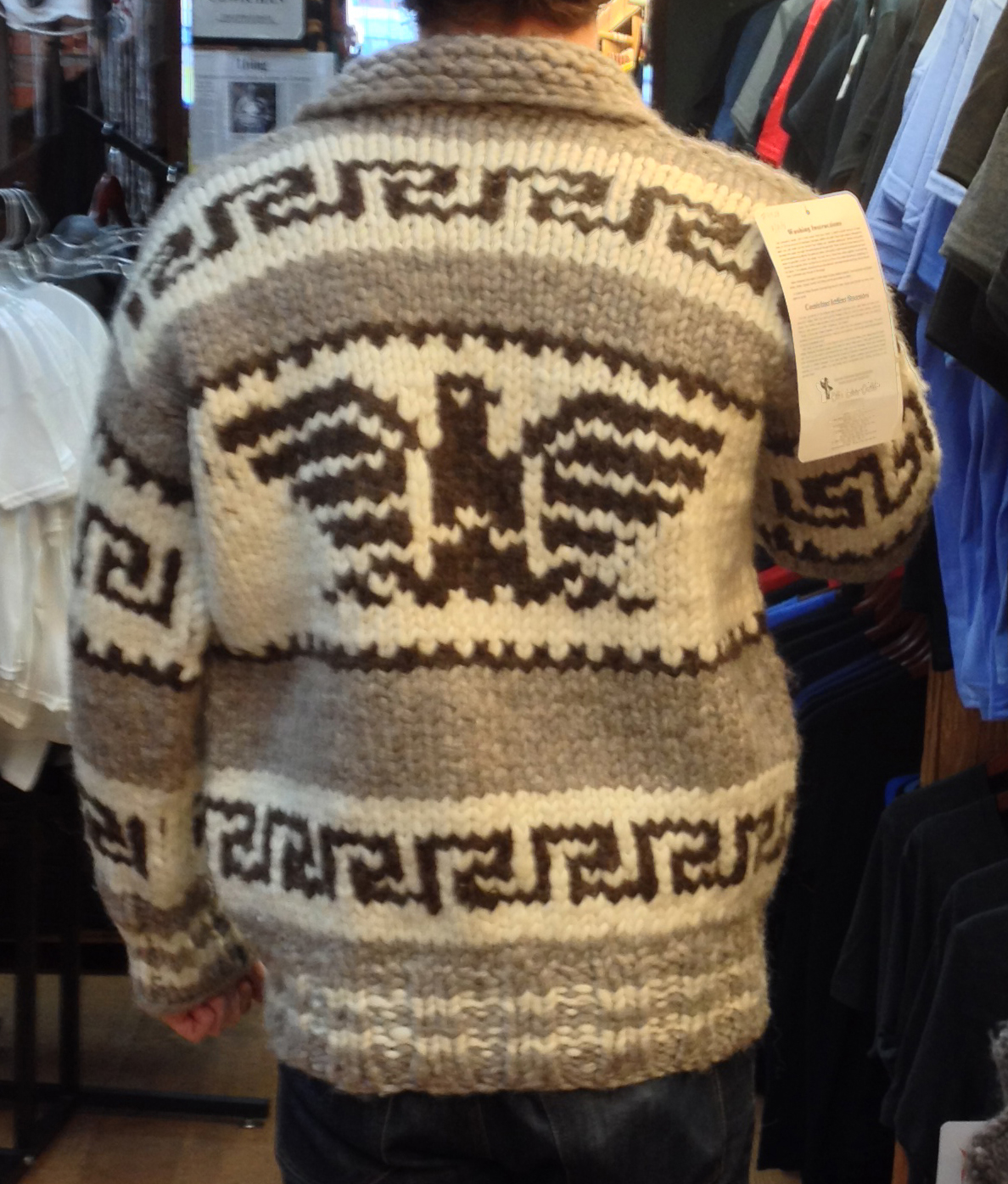 426af8110f45 Genuine Handmade Cowichan Sweater