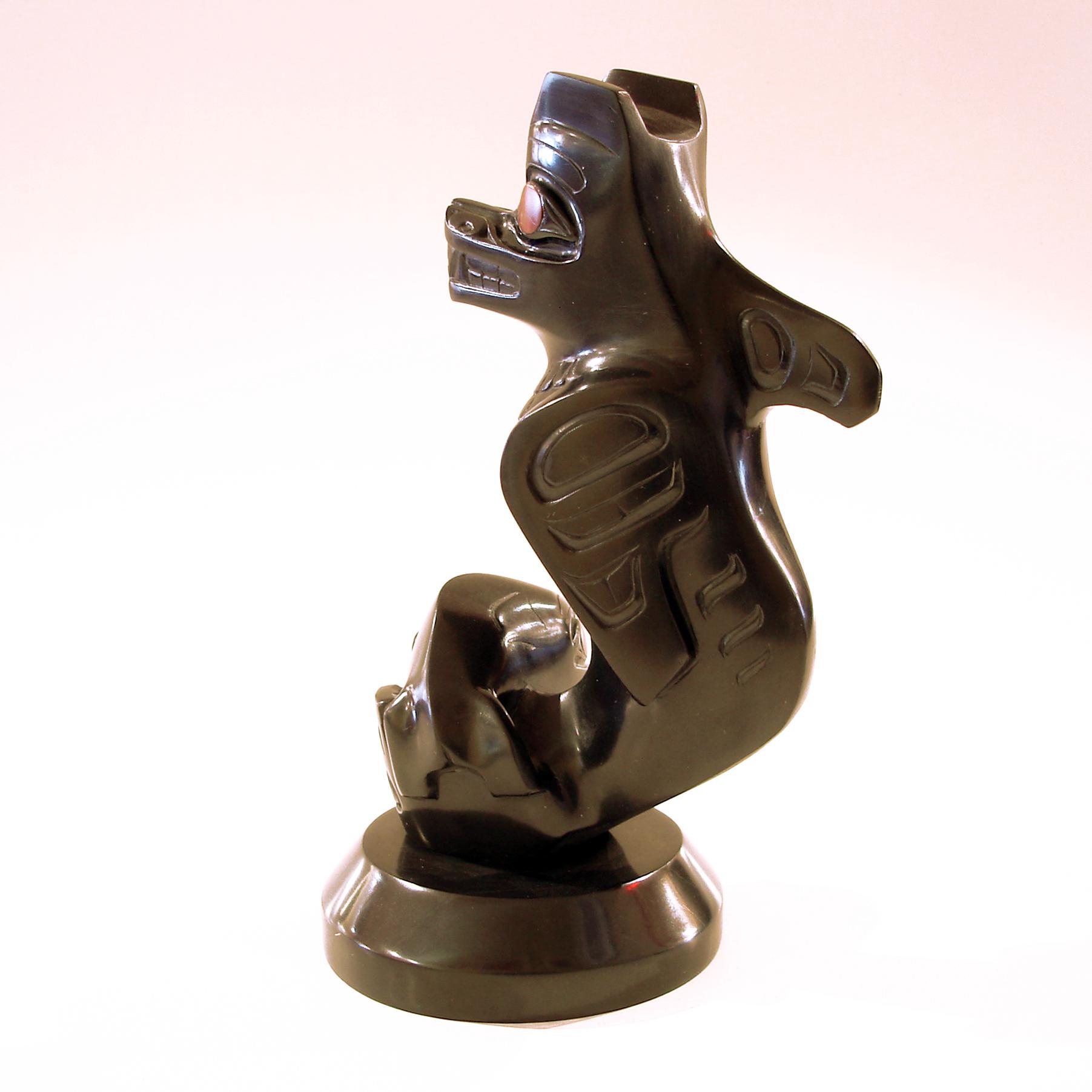 Argillite wasgo sculpture by greg white