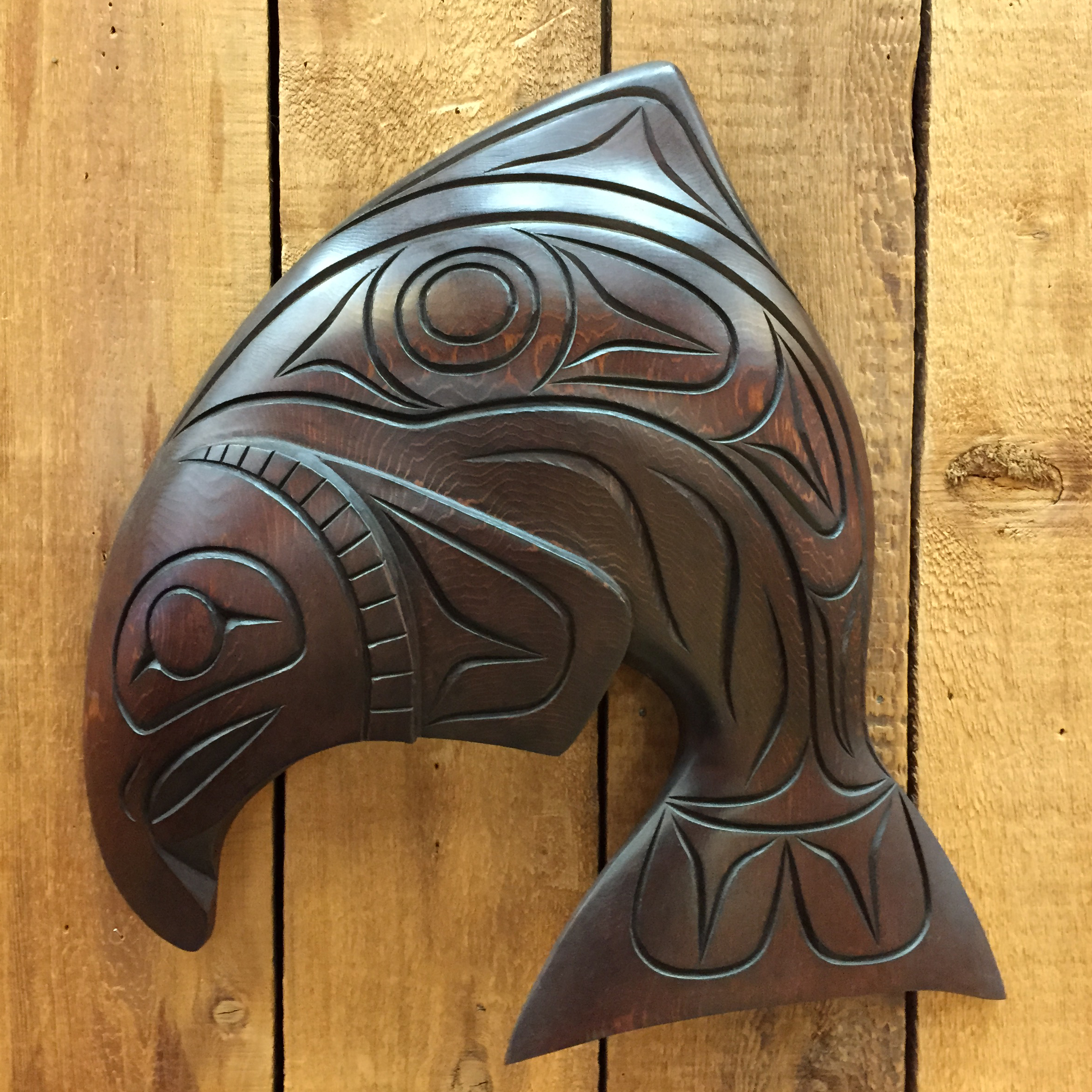 Salmon carving by william watts