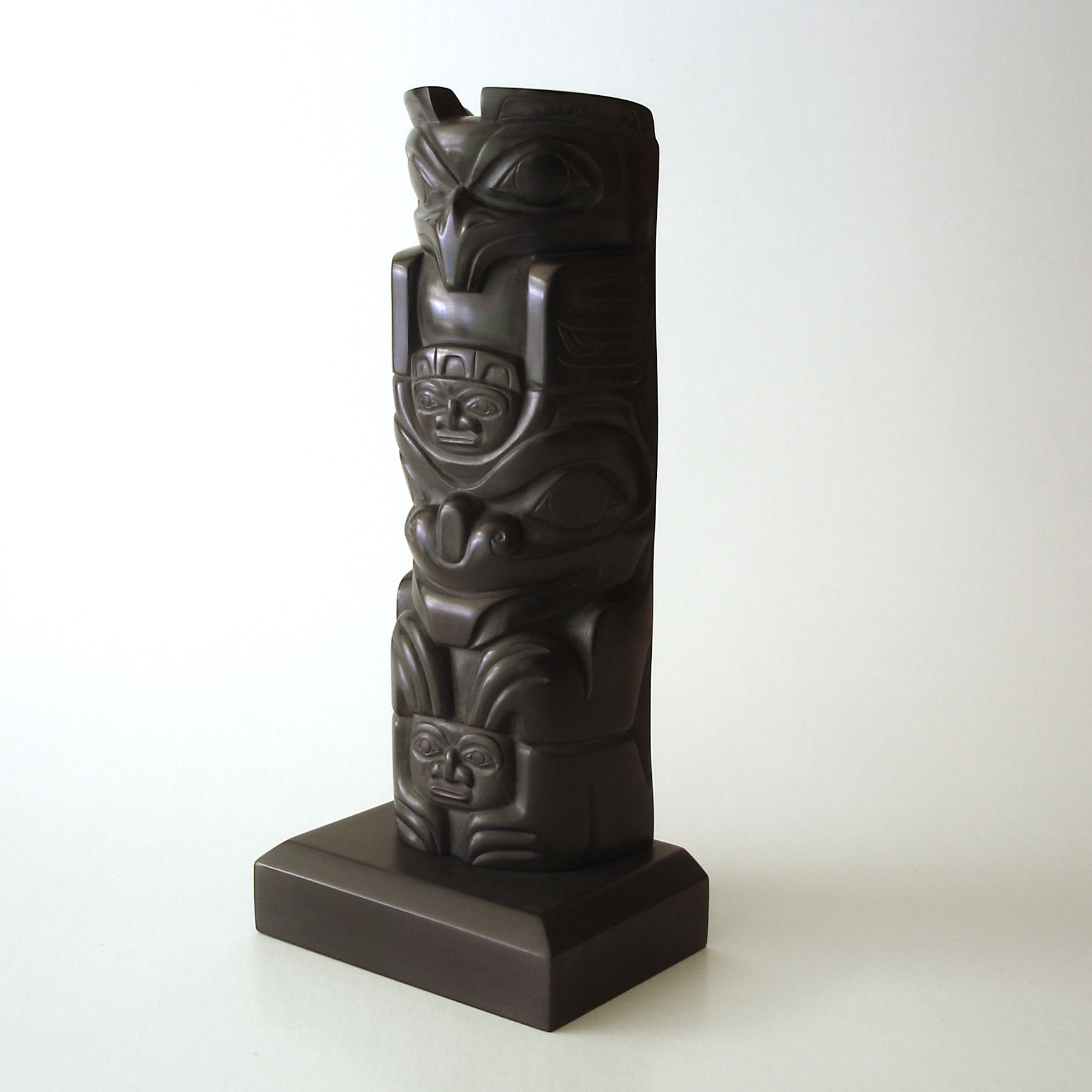 A contemporary haida carved argillite panel pipe christian lot