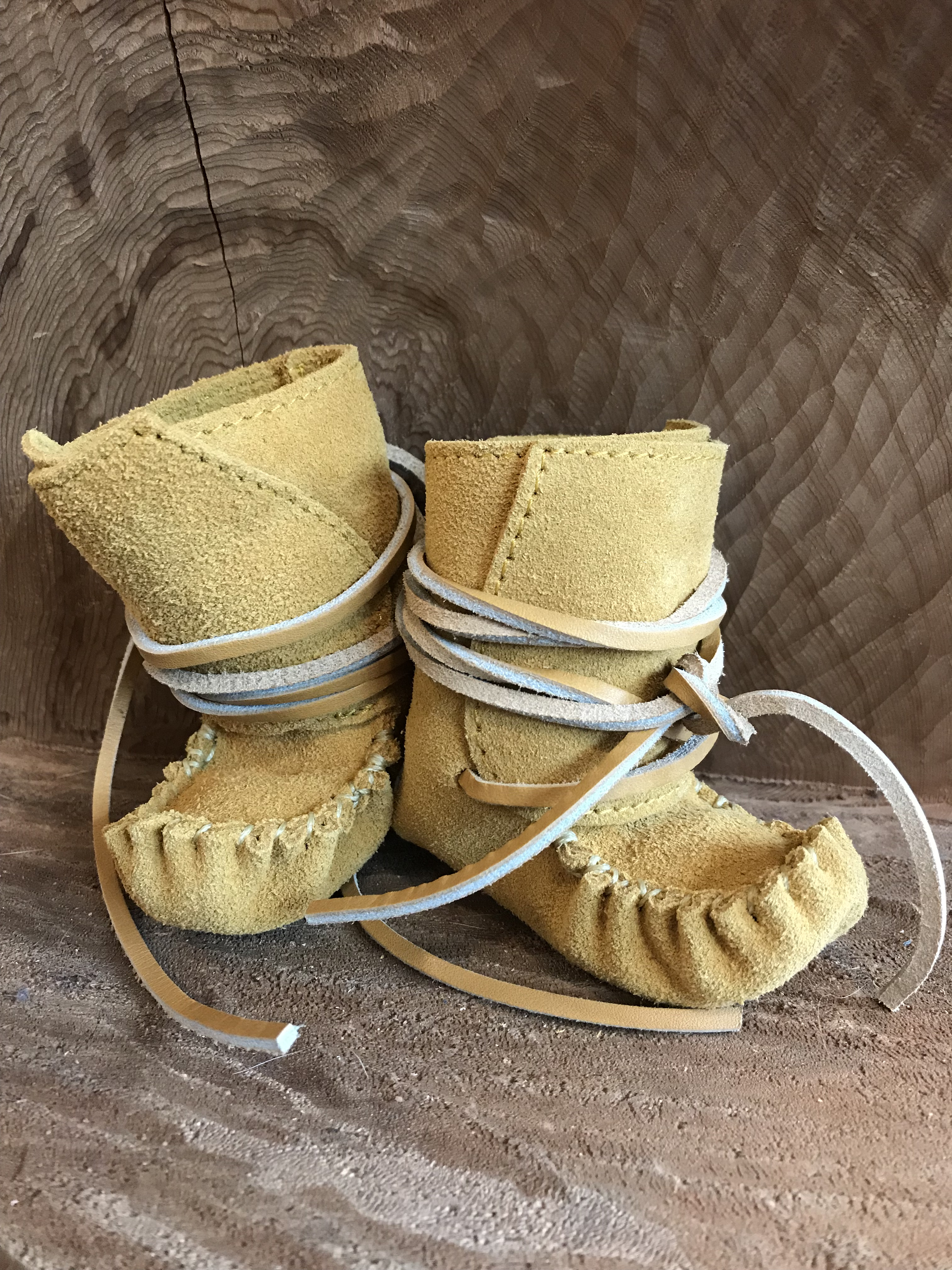 Suede Baby Moccasin Boots (Tan) Style 1220C